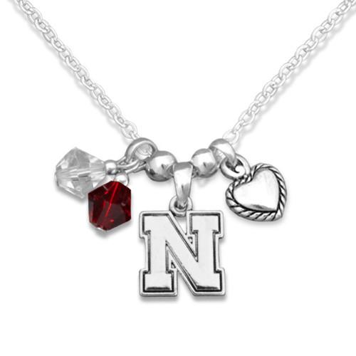 Nebraska Cornhuskers Haute Wire Necklace
