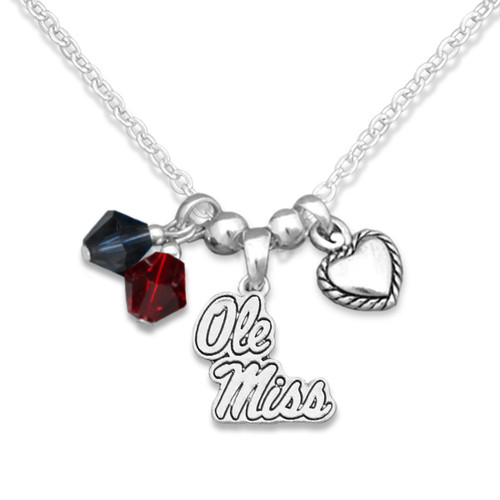 Ole Miss Rebels Haute Wire Necklace