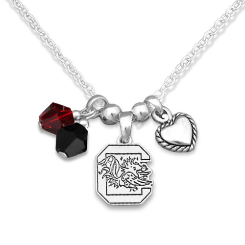 South Carolina Gamecocks Haute Wire Necklace