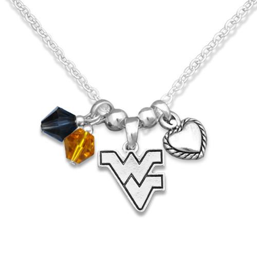West Virginia Mountaineers Haute Wire Necklace