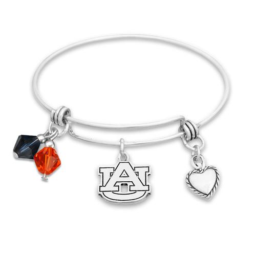 Auburn Tigers Haute Wire Memory Wire Bracelet