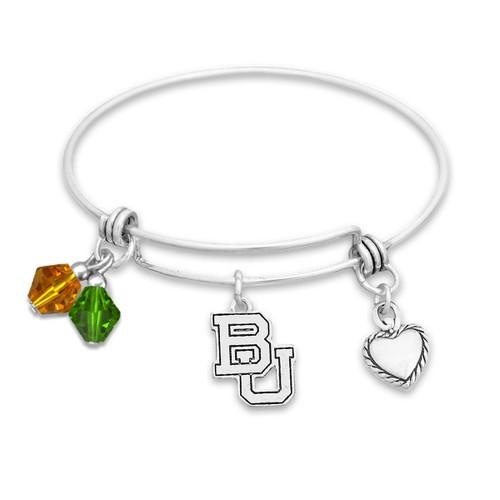 Baylor Bears Haute Wire Memory Wire Bracelet