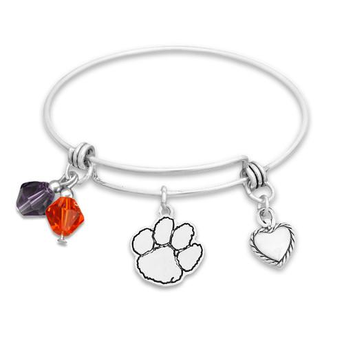 Clemson Tigers Haute Wire Memory Wire Bracelet