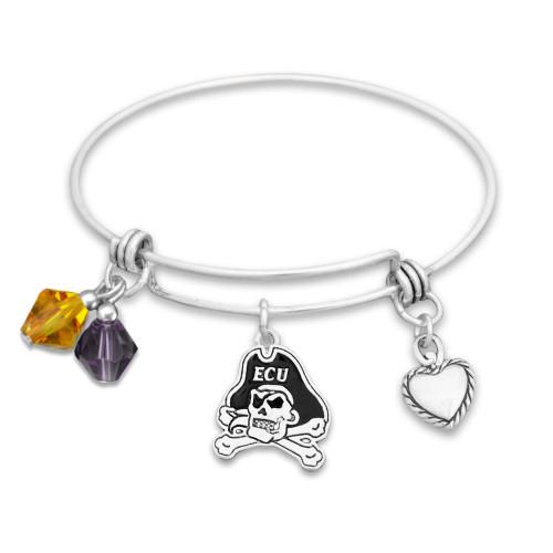East Carolina Pirates Haute Wire Memory Wire Bracelet