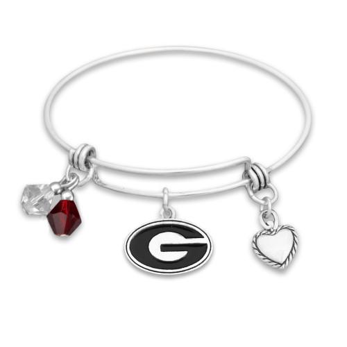 Georgia Bulldogs Haute Wire Memory Wire Bracelet
