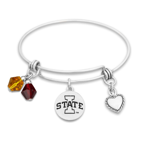 Iowa State Cyclones Haute Wire Memory Wire Bracelet