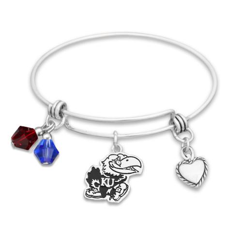 Kansas Jayhawks Haute Wire Memory Wire Bracelet