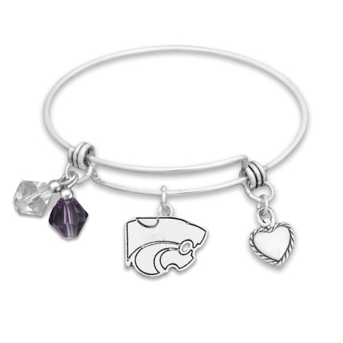 Kansas State Wildcats Haute Wire Memory Wire Bracelet