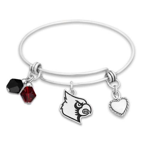Louisville Cardinals Haute Wire Memory Wire Bracelet