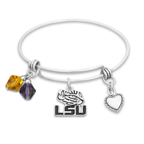 LSU Tigers Haute Wire Memory Wire Bracelet