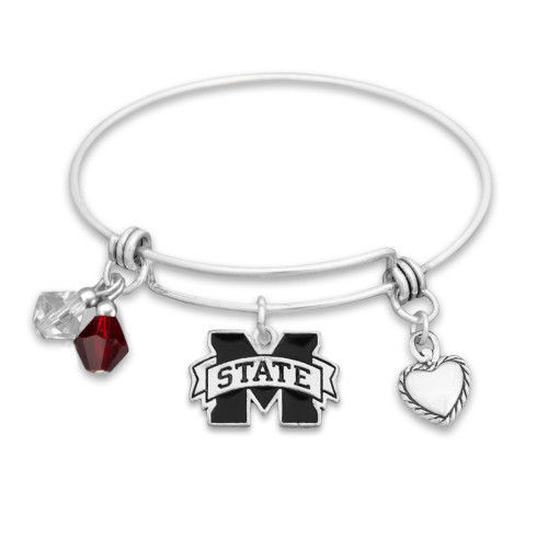 Mississippi State Bulldogs Haute Wire Memory Wire Bracelet