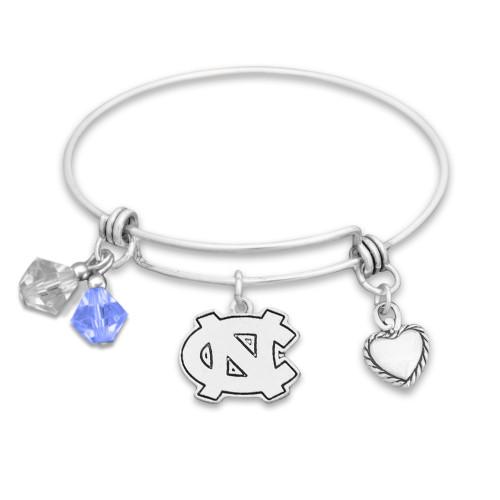 North Carolina Tar Heels Haute Wire Memory Wire Bracelet