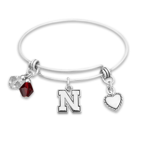 Nebraska Cornhuskers Haute Wire Memory Wire Bracelet