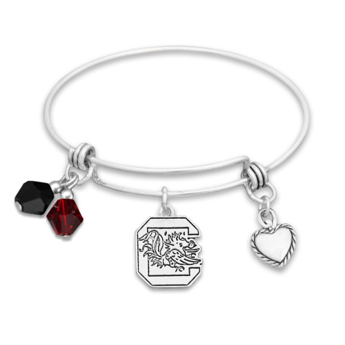 South Carolina Gamecocks Haute Wire Memory Wire Bracelet