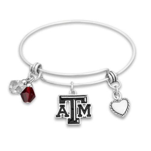 Texas A&M Aggies Haute Wire Memory Wire Bracelet