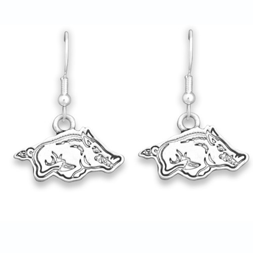 Arkansas Razorbacks Trifecta Earrings