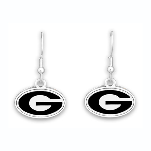Georgia Bulldogs Trifecta Earrings