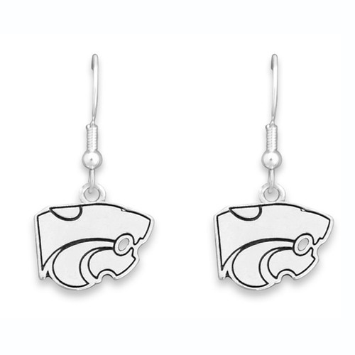 Kansas State Wildcats Trifecta Earrings