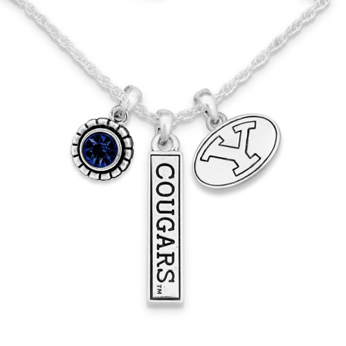 BYU Cougars Trifecta Necklace