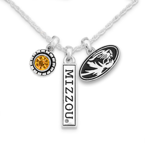 Missouri Tigers Trifecta Necklace