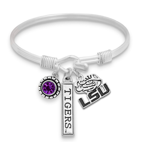 LSU Tigers Trifecta Bangle