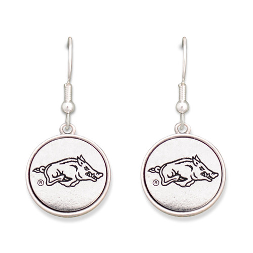 Arkansas Razorbacks Silver Linings Earrings