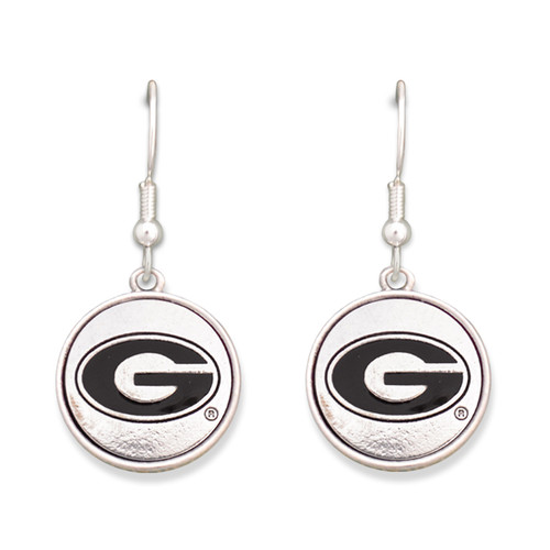 Georgia Bulldogs Silver Linings Earrings