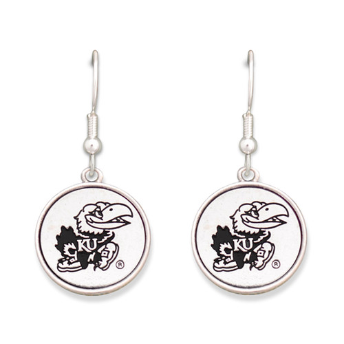 Kansas Jayhawks Silver Linings Earrings