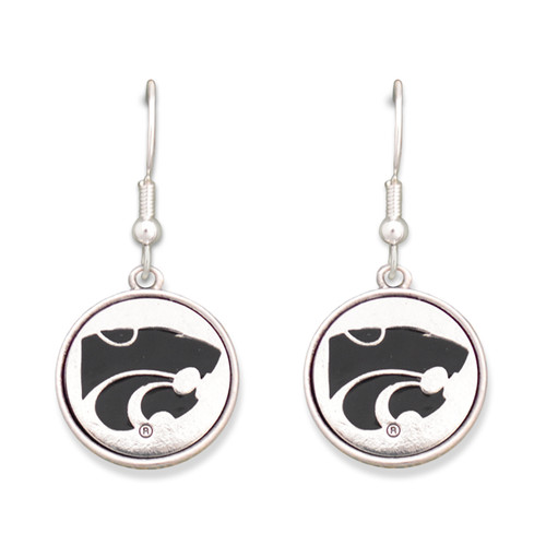 Kansas State Wildcats Silver Linings Earrings