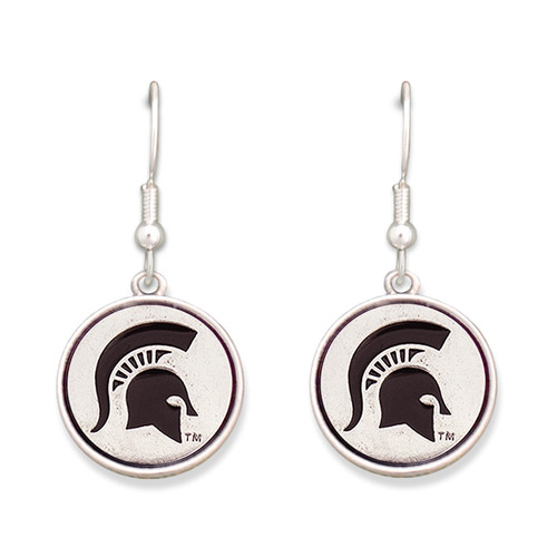 Michigan State Spartans Silver Linings Earrings