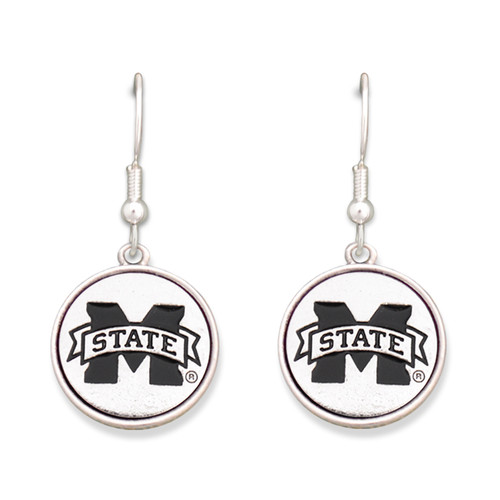 Mississippi State Bulldogs Silver Linings Earrings
