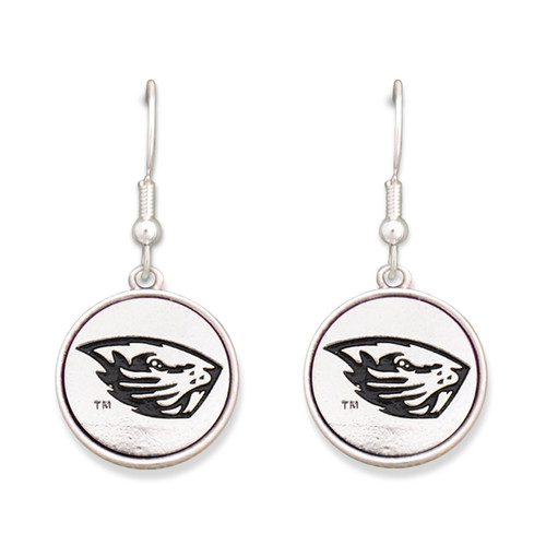 Oregon State Beavers Silver Linings Earrings