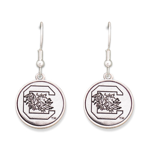 South Carolina Gamecocks Silver Linings Earrings