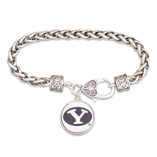 BYU Cougars Silver Linings Bracelet