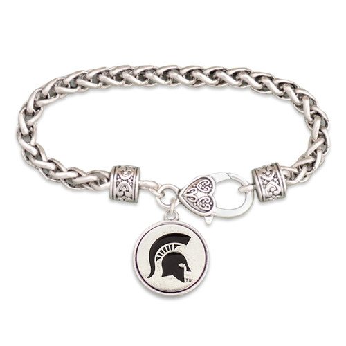 Michigan State Spartans Silver Linings Bracelet