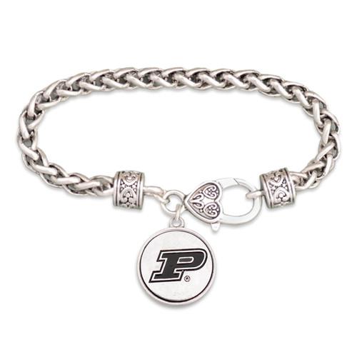 Purdue Boilermakers Silver Linings Bracelet
