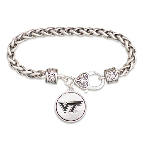 Virginia Tech Hokies Silver Linings Bracelet