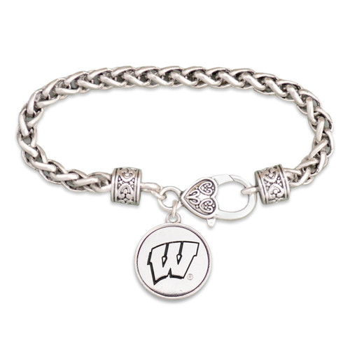 Wisconsin Badgers Silver Linings Bracelet