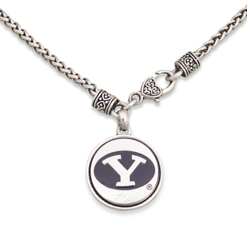 BYU Cougars Silver Linings Necklace