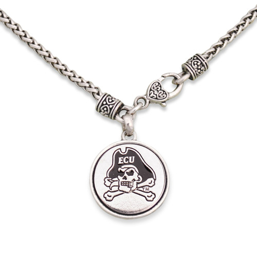 East Carolina Pirates Silver Linings Necklace