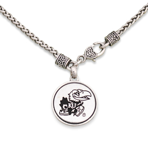 Kansas Jayhawks Silver Linings Necklace