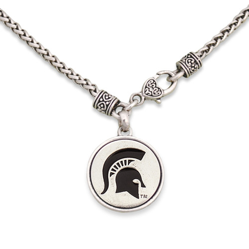 Michigan State Spartans Silver Linings Necklace