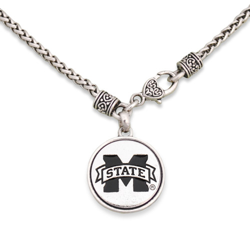 Mississippi State Bulldogs Silver Linings Necklace
