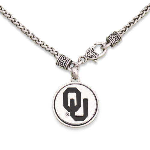 Oklahoma Sooners Silver Linings Necklace