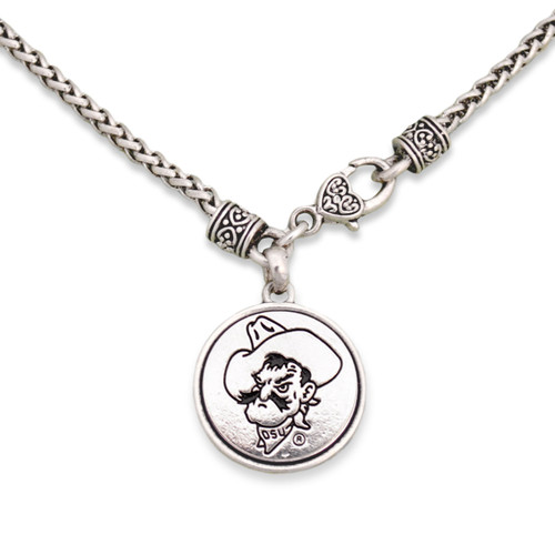 Oklahoma State Cowboys Silver Linings Necklace