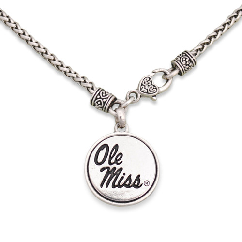 Ole Miss Rebels Silver Linings Necklace