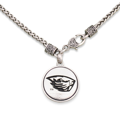 Oregon State Beavers Silver Linings Necklace
