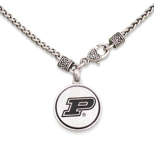 Purdue Boilermakers Silver Linings Necklace