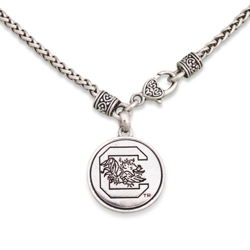 South Carolina Gamecocks Silver Linings Necklace