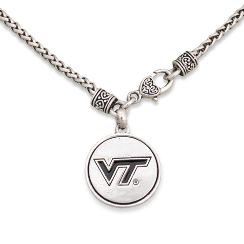 Virginia Tech Hokies Silver Linings Necklace